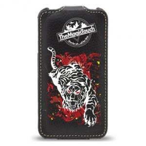 Sort-Iphone-Cover-trykket-med-CPM-transferpapir-tiger http://www.themagictouch.dk